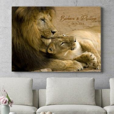 Personalisierbares Geschenk Lion Love