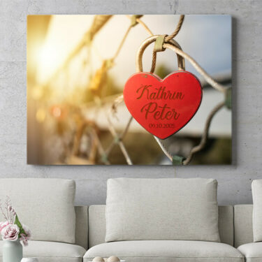 Personalisierbares Geschenk Locked Love