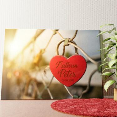 Personalisiertes Wandbild Locked Love