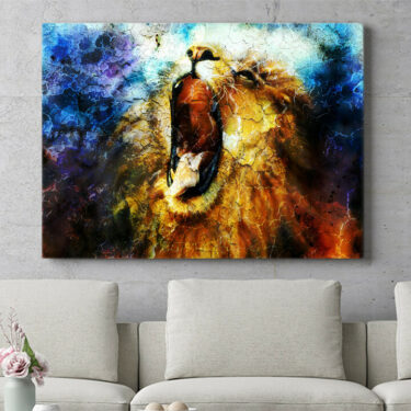 Personalisierbares Geschenk Löwe Abstrakt
