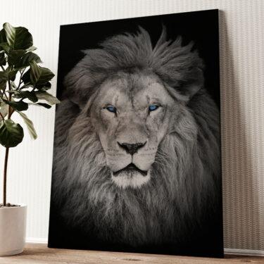 Löwe Wandbild personalisiert