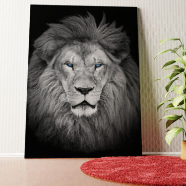 Personalisiertes Wandbild Löwe