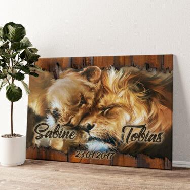Löwenherz Wandbild personalisiert