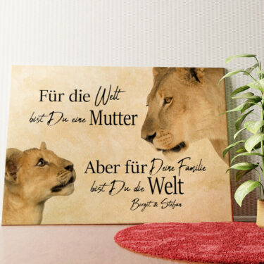 Personalisiertes Wandbild Löwenmutter 2 (Querformat)