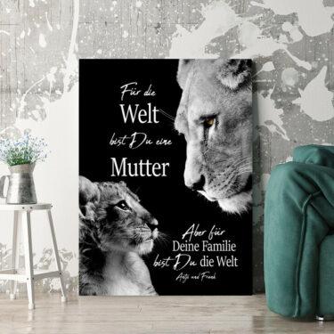 Personalisierbares Geschenk Löwenmutter
