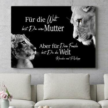 Personalisierbares Geschenk Löwenmutter (Querformat)