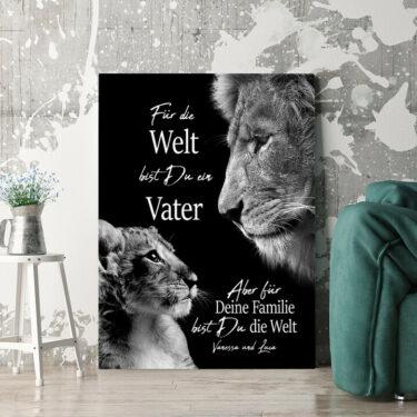 Personalisierbares Geschenk Löwenvater