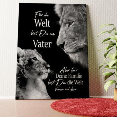 Personalisiertes Wandbild Löwenvater