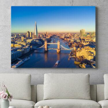 Personalisierbares Geschenk London Bridge Luftaufnahme
