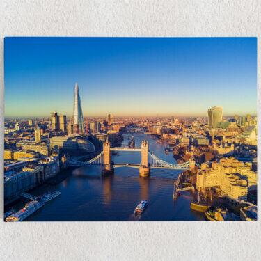 Personalisiertes Leinwandbild London Bridge Luftaufnahme
