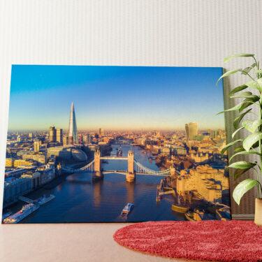 Personalisiertes Wandbild London Bridge Luftaufnahme