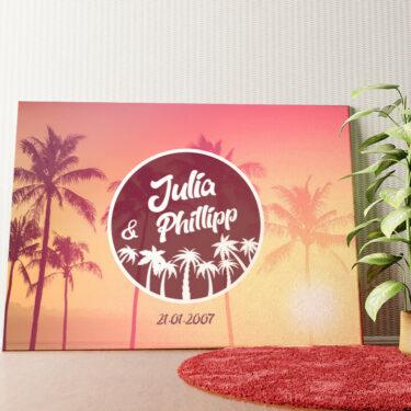 Personalisiertes Wandbild Love Below Palms