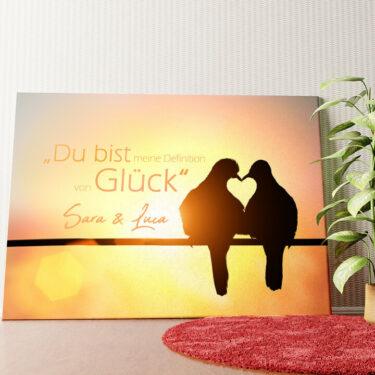 Personalisiertes Wandbild Love Birds