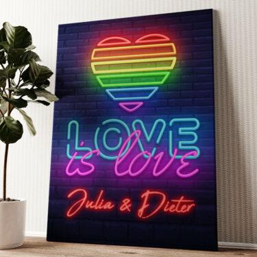 Love Is Love Wandbild personalisiert