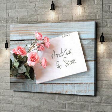 Leinwandbild personalisiert Love Letter