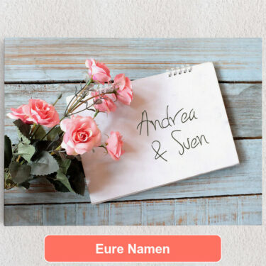 Personalisiertes Leinwandbild Love Letter