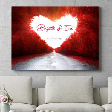 Personalisierbares Geschenk Love Road