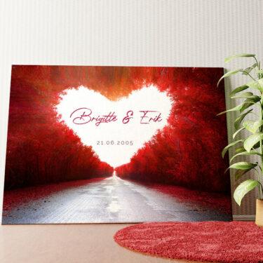 Personalisiertes Wandbild Love Road
