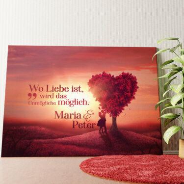 Personalisiertes Wandbild Love Tree