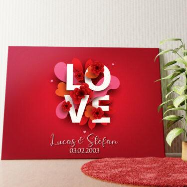 Personalisiertes Wandbild LOVE