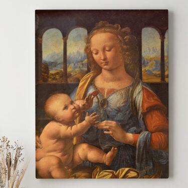 Leinwandbild personalisiert Madonna mit der Nelke