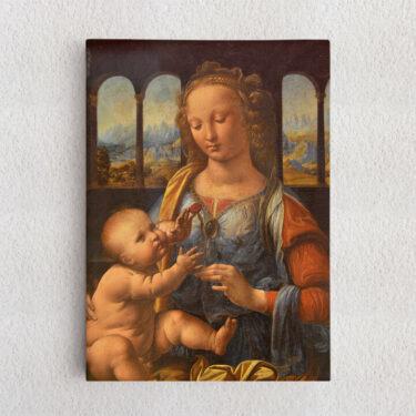 Personalisiertes Leinwandbild Madonna mit der Nelke