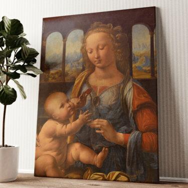 Madonna mit der Nelke Wandbild personalisiert