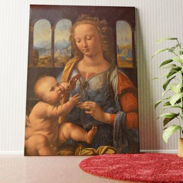 Personalisiertes Wandbild Madonna mit der Nelke