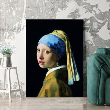 Personalisierbares Geschenk Mädchen mit dem Perlenohrring