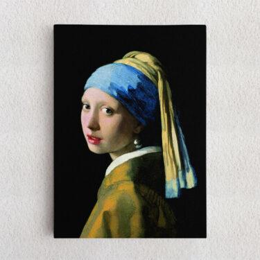 Personalisiertes Leinwandbild Mädchen mit dem Perlenohrring