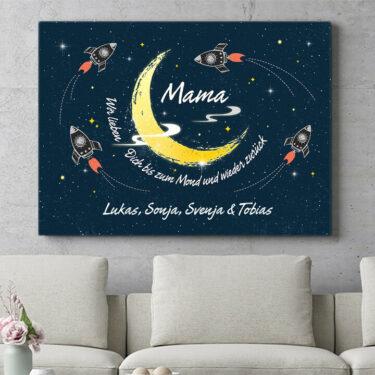 Personalisierbares Geschenk Mama des Universums