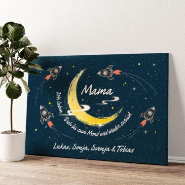 Mama des Universums Wandbild personalisiert