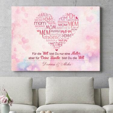 Personalisierbares Geschenk Mamas Familie