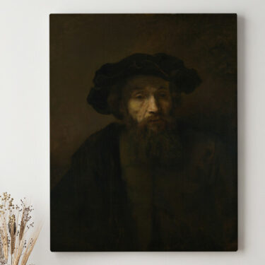 Leinwandbild personalisiert Mann mit Bart und Hut