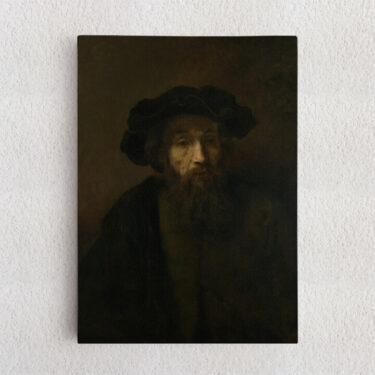 Personalisiertes Leinwandbild Mann mit Bart und Hut