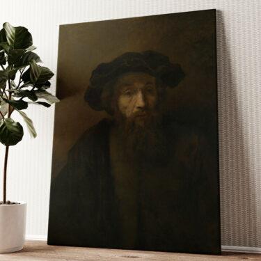 Mann mit Bart und Hut Wandbild personalisiert