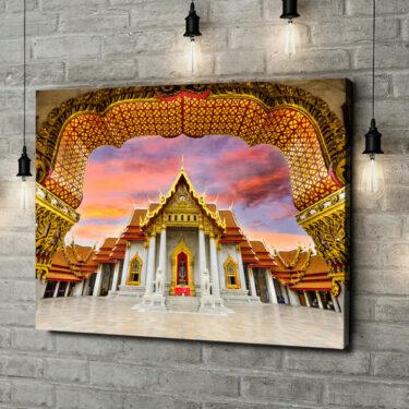 Leinwandbild personalisiert Marmortempel Bangkok