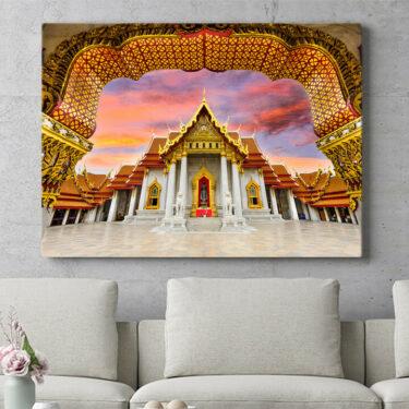 Personalisierbares Geschenk Marmortempel Bangkok