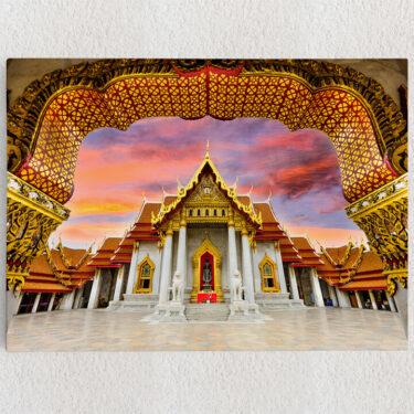 Personalisiertes Leinwandbild Marmortempel Bangkok