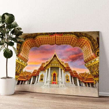 Marmortempel Bangkok Wandbild personalisiert