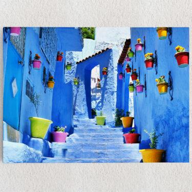 Personalisiertes Leinwandbild Marokkanische Gasse