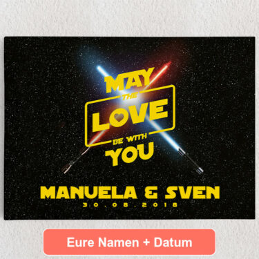 Personalisiertes Leinwandbild May The Love Be With You