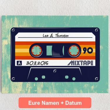 Personalisiertes Leinwandbild Mixtape