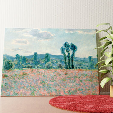 Personalisiertes Wandbild Mohnfeld bei Giverny