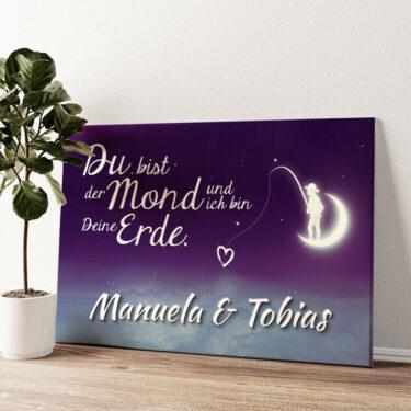 Moon Love Wandbild personalisiert