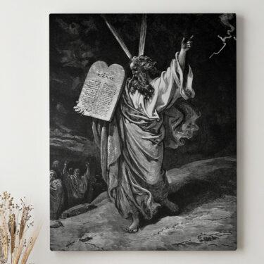 Leinwandbild personalisiert Moses und die 10 Gebote