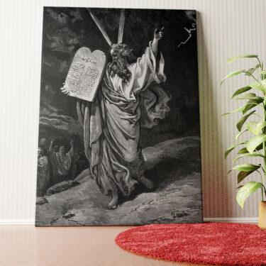 Personalisiertes Wandbild Moses und die 10 Gebote