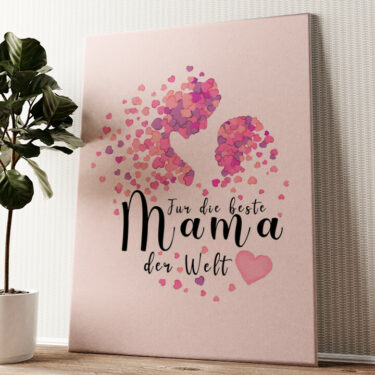 Mutterliebe Wandbild personalisiert