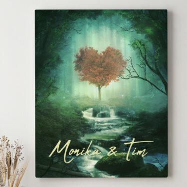 Leinwandbild personalisiert Mystic Love