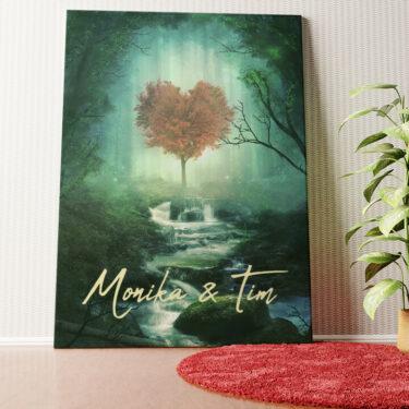 Personalisiertes Wandbild Mystic Love